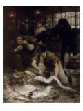 Un coin de la Halle aux poissons le matin (1880)