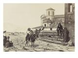 """""""Le pont Rapido à Cassino  Italie""""  peinture d'Edmond Lebel"""