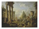 Une Sibylle prêchant dans des ruines