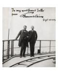 Adolphe Salles et Thomas Edison  visite à la Tour Eiffel