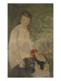 Colette sur fond de jardin (1888-1969)  fille de l'artiste