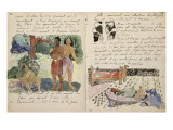 Album ancien culte Mahori :Texte manuscrit en langue française & illustrations Mahorie : 3 personna