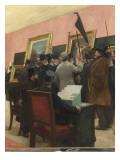 Une séance du jury de peinture au Salon des Artistes français (1883 )