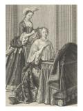 """"""" Le Matin""""  dame de qualité à sa toilette"""