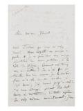 Recueil de lettres et esquisses : lettre autographe à Pauline Viardot