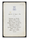 Un menu du duc d&#39;Aumale au ch&#226;teau de Chantilly de juillet 1893 &#224; octobre 1894 