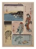 9ème vue : Oïso  10ème vue : Odawara  11ème vue : Hakone ; 12ème vue : Numazu