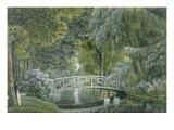 """""""MalmaisonVue du pont de bois sur la rivière à la gauche du château"""""""