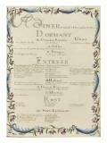 """"""" Voyages du roi au château de Choisy """" en 1752 : souper du vendredi 15 décembre 1752"""