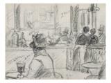 Un café  place du Théâtre Français