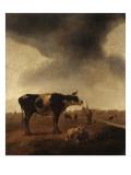 Vaches  moutons et berger