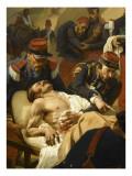 Episode de la bataille d'Inkermann pendant la guerre de Crimée en 1854