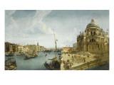 Entrée du Grand Canal et l'église de la Salute à Venise