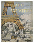 Couverture du &quot;Figaro Exposition&quot;  1889 avec la Tour Eiffel