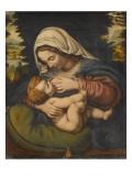 Copie de La Vierge au coussin vert