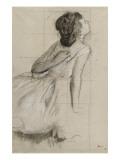 Danseuse, vue de profil sur la droite Giclée par Edgar Degas
