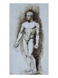 Copie d'après une statue antique (athlète  musée national  Naples)