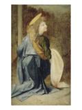 Copie d'après Verrocchio : détail d'un ange dans le baptême du Christ (Florence  Offices)