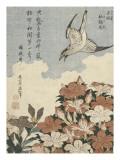 Coucou et azalées Giclée par Katsushika Hokusai