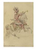 Costume de Carrousel : projet pour celui d'un cavalier  Trompette de la quadrille du Dauphin
