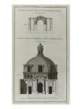 Elévation de la porte d'entrée- l'extérieure de l'amphithéâtre de l'Académi