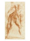 Copie d'après un dessin de Raphaël pour un incendie du Borgo
