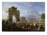 Entrée de la Grande Armée à Paris par la barrière de la  Villette  25 novembre 1807