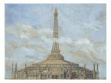Projet d'habillage de la Tour Eiffel pour l'Exposition universelle de 1900 : élévation