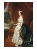 Eugénie de Montijo de Guzman (1826-1920)  impératrice des Français - portrait officiel en 1853