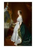 Eugénie de Montijo de Guzman (1826-1920)  impératrice des Français - portrait officiel en 1855
