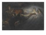 Faust dans son cabinet  Méphisto et trpos spectres de femmes