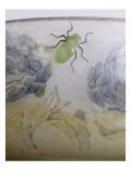 Coupe aux hortensias et scarabées