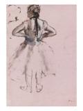 Danseuse debout, de dos, les mains à la taille Giclée par Edgar Degas