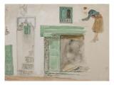 Portes et baies d'une maison mauresque; 1832