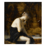 Femme drapée assise