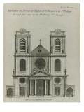 Elévation de l'église Saint-Jacques et  Saint-Philippe-du-Haut-Pas