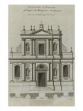 Elévation du portail de l'église du couvent des Feuillantines rue du faubou