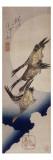 Vol d'oies sauvages sur fonds de lune