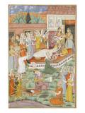 Shahnameh de Ferdowsi ou le Livre des Rois Naissance de Roustam par Césarienne