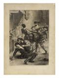 """Suite lithographique """"Hamlet"""" : la mort d'Hamlet après le duel"""