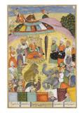 Shahnameh de Ferdowsi ou le Livre des Rois Sohrab regarde la tente panachés du roi