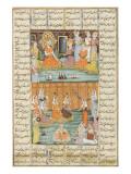 Shahnameh de Ferdowsi ou le Livre des Rois Mariage des trois filles de Séro  roi du Yémen