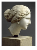"""Tête féminine : tête de l'Aphrodite de Cnide  dite """" Tête Kaufmann """""""