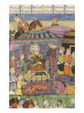 Shahnameh de Ferdowsi ou le Livre des Rois Sohrab regarde la tente rouge de Rostame  son père