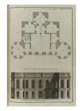 Plan du premier étage de l'Observatoire de Paris-  Elévation des façades de