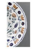 Plat aux tulipes bleues et grappes de fleurs bleues