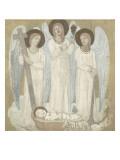 La Foi  l'Espérance et la Charité  veillant sur Sainte Geneviève au berceau