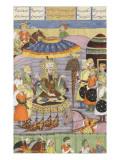 Shahnameh de Ferdowsi ou le Livre des Rois Sohrab regarde à nouveau la tente de Roustam