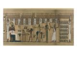 Papyrus funéraire de Nesmin : le défunt est introduit auprès d'Osiris