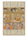 Shahnameh de Ferdowsi ou le Livre des Rois Réception au palais de Mihras  roi de Kasoul